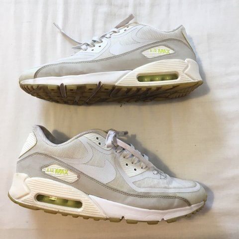 e5a5f1b0a5 Rare white glow in the dark Nike Air Max 90s essential with - Depop