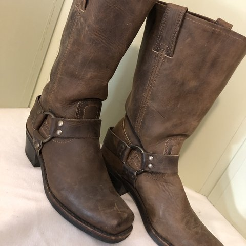 5913b3f2d @mase3retro. 3 months ago. Portland, United States. FRYE harness boots Size  7 - Dark Brown - Beautiful Leather