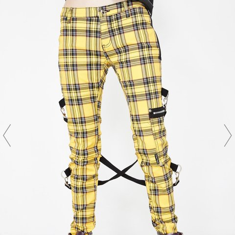 cf7042ffb6d0 @keepingupwithnay. 2 months ago. Pittsburgh, United States. Tripp NYC Plaid  Chaos Pants Yellow. Worn Once Size 30.