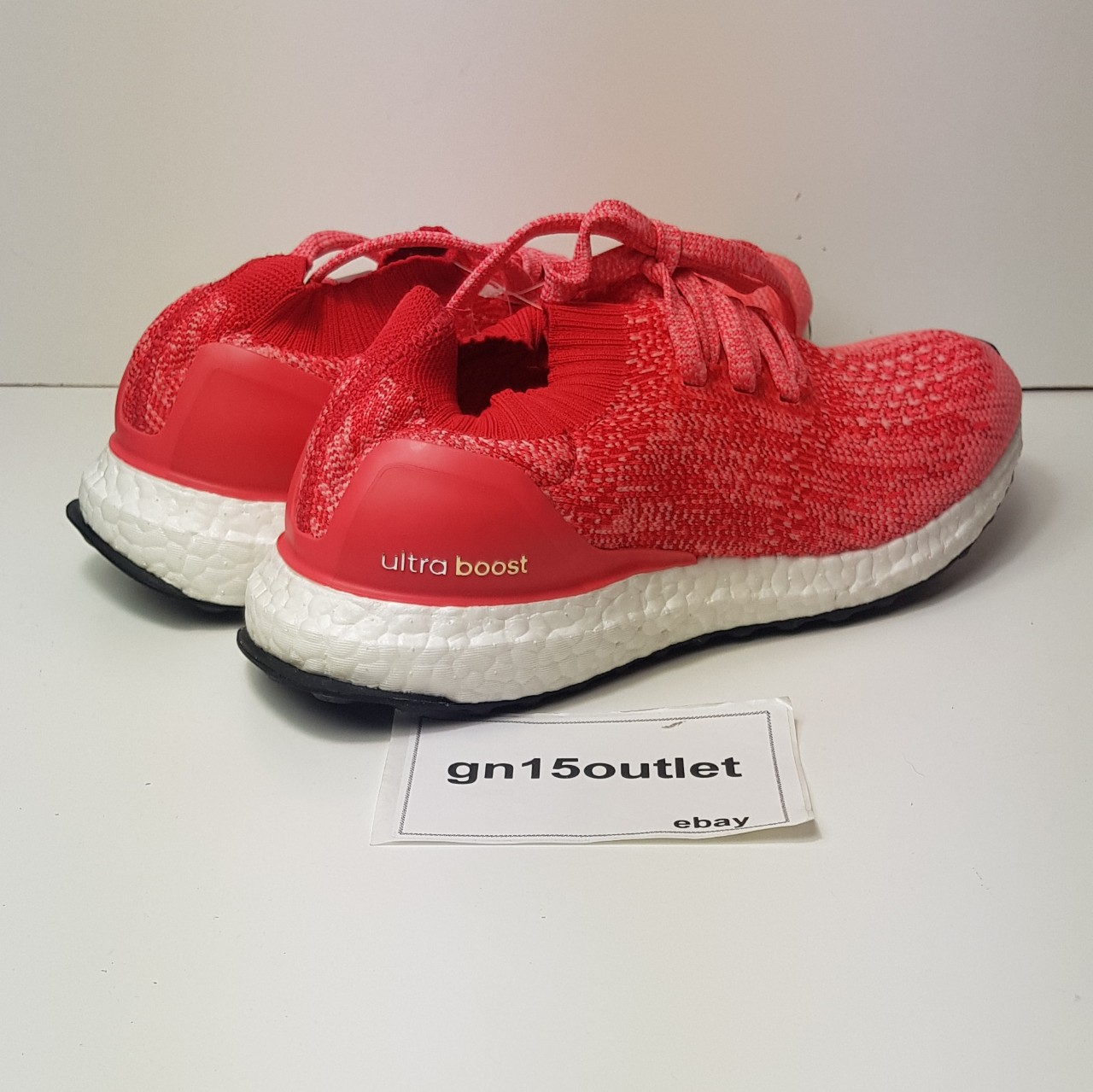 Adidas Ultra Boost Uncaged Primeknit Ray Red womens Depop