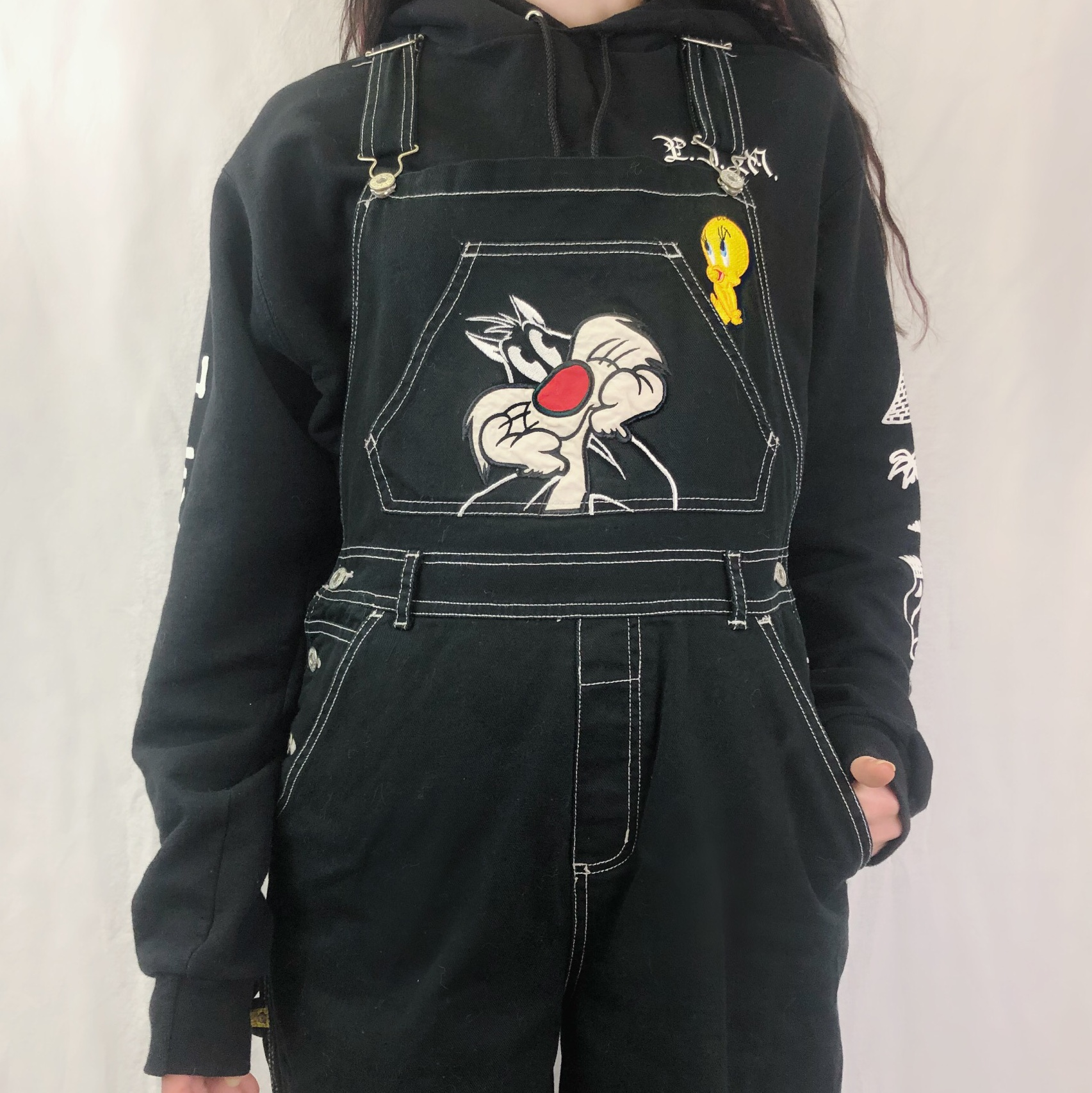 Very Cool Vintage Looney Tune Overalls! They're by Depop