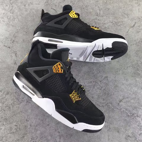 cheap for discount e757d c793b  sharuk7. 2 years ago. Manchester, United Kingdom. Nike air Jordan retro 4   royalty  black metallic gold ...