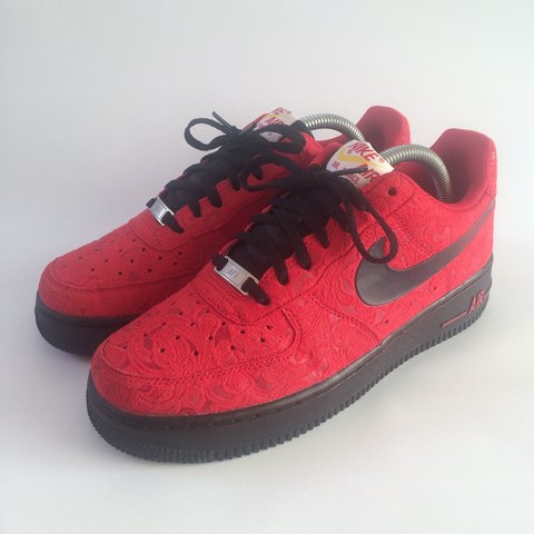bcc9b559d4fc Nike Air Force 1 Low University Red Paisley. Super rare find - Depop