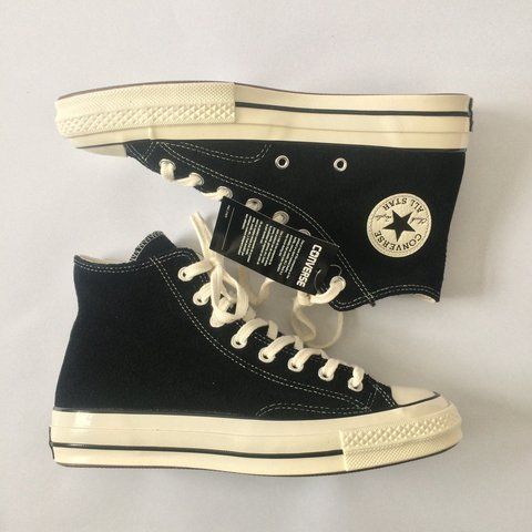 55af33f298712e Converse Chuck Taylor All Star Hi 70 s in Black Suede. UK 7. - Depop