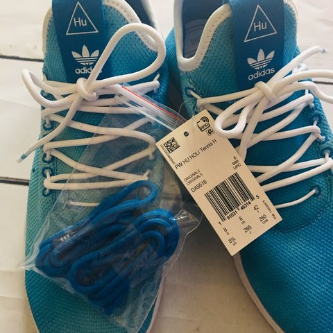 43e48041ac5b8 💠NEW Mens Adidas Pharrell Williams Blue Hu Holi Tennis the - Depop