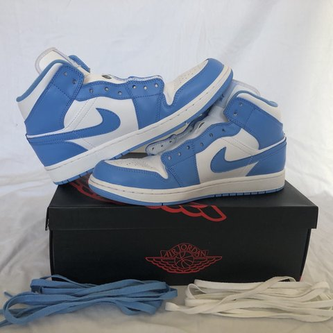 ecb9715a971 Jordan 1 UNC MID • Used but phenomenal condition 9/10 • box - Depop