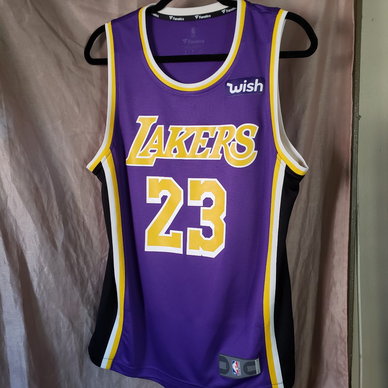 new arrival fcbab f484f 2019 Lakers Purple Authentic Jersey LeBron James... - Depop