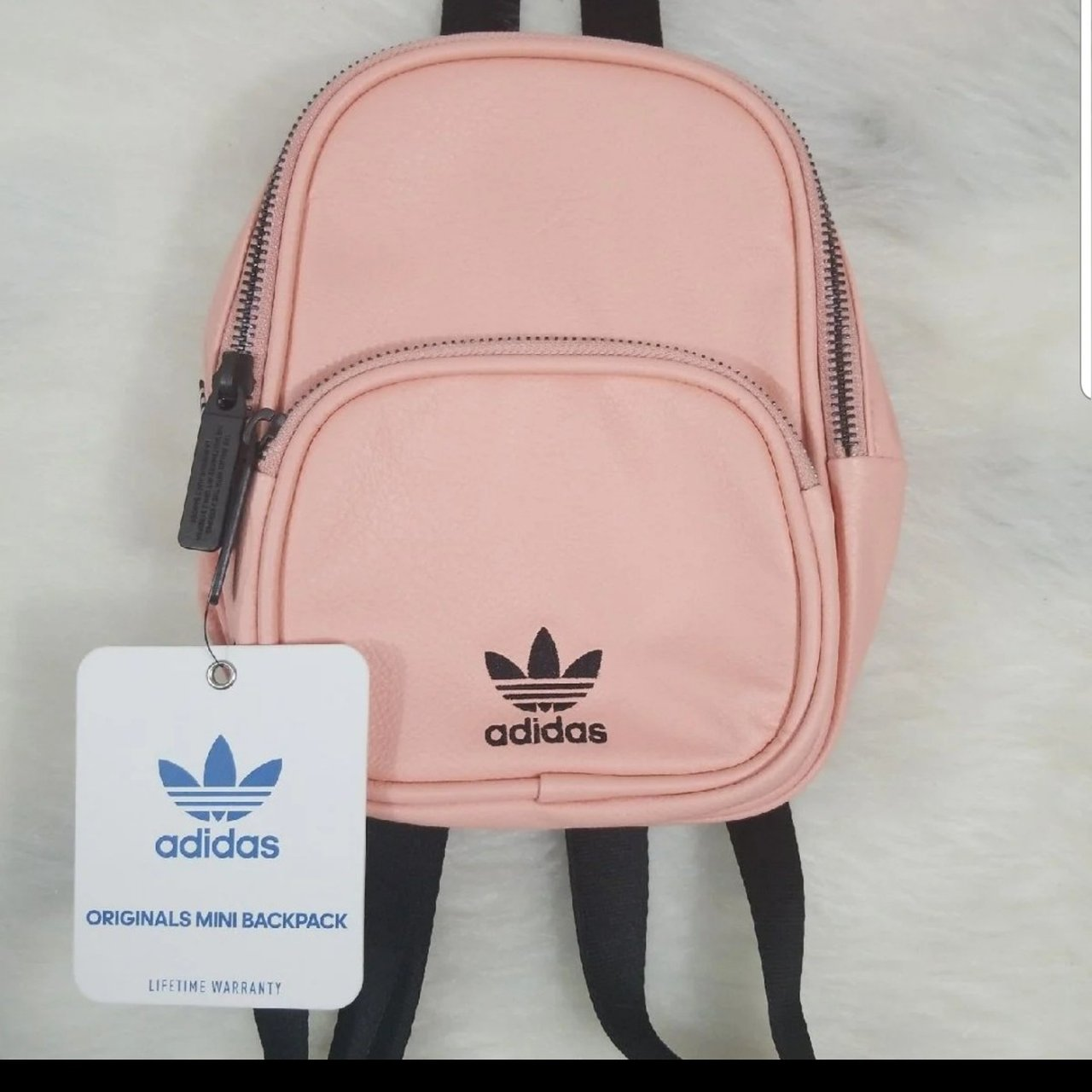 3b17b51850 adidas Originals Faux Leather mini backpack. Features adidas - Depop