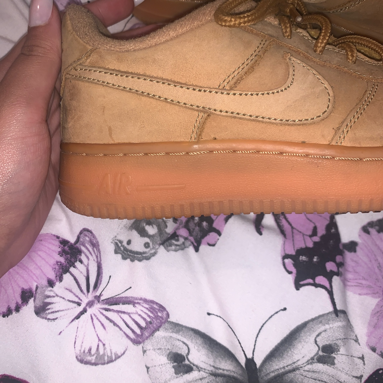 Nike sand colour Air Force 1 low