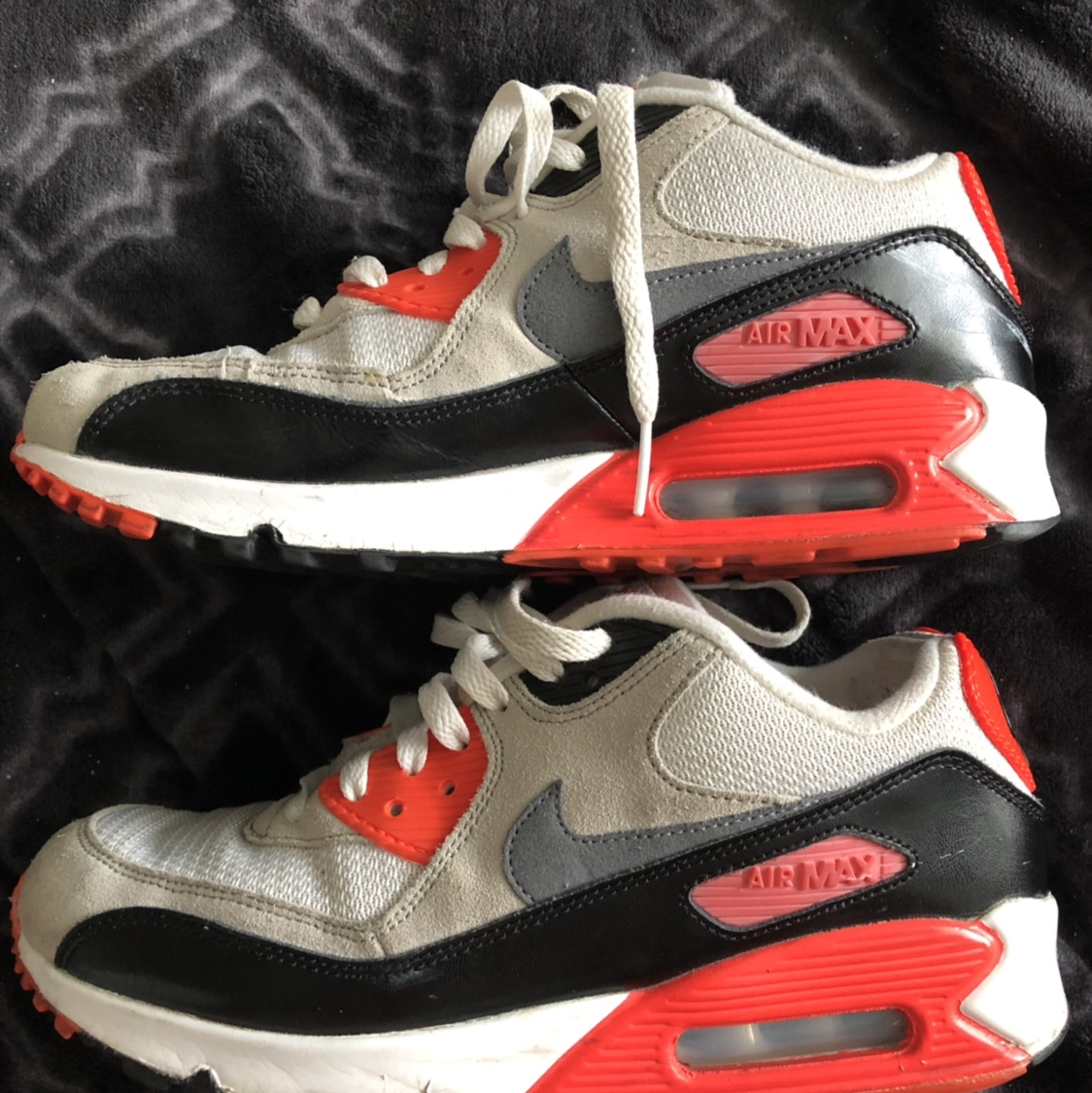 nuevo Nike Air Max 90 Infrared 2015 Size 6.5y,minor paint