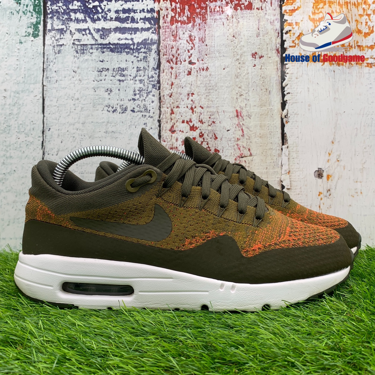Air Max 1 Ultra Flyknit 'Olive Flak' Colour: Olive Depop