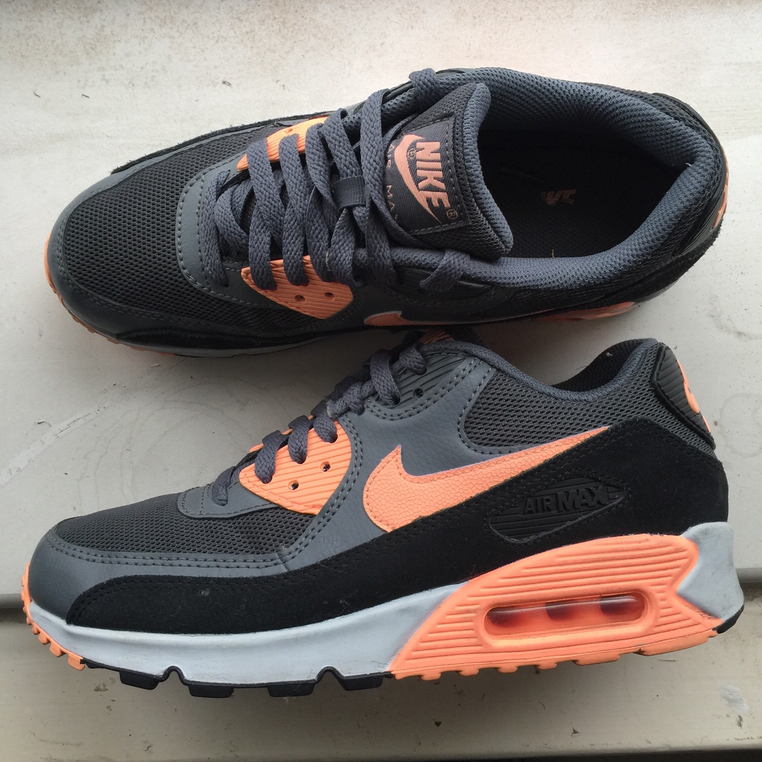 classic fit dc3a3 ee180 Nike Air Max 90 Sunset Glow size 6UK Few scruffs on... - Depop