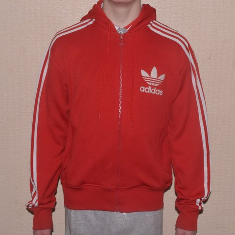 red and white adidas sweater