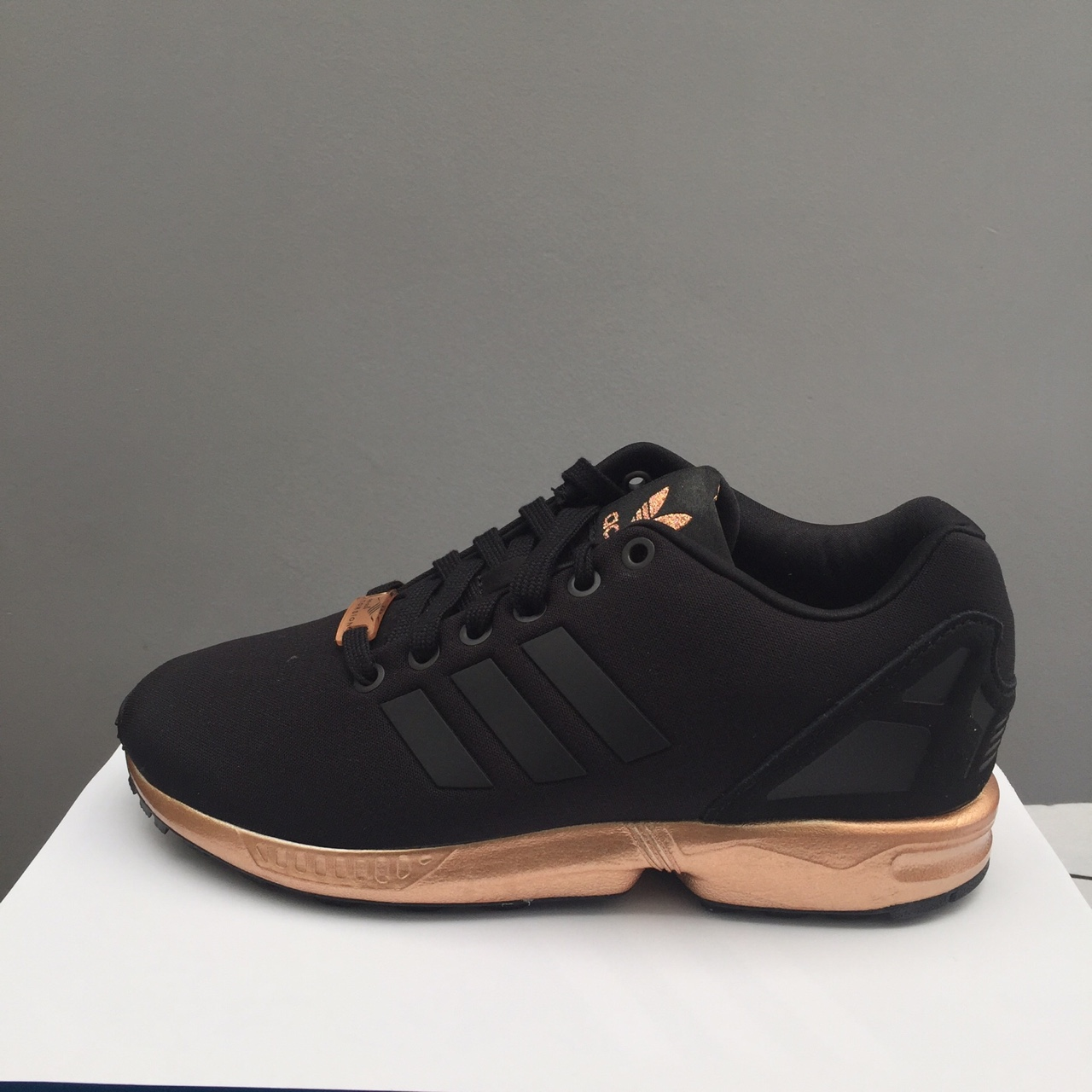 info for 0e36a 539b8 Adidas ZX Flux rose gold. Brand new with box UK5... - Depop