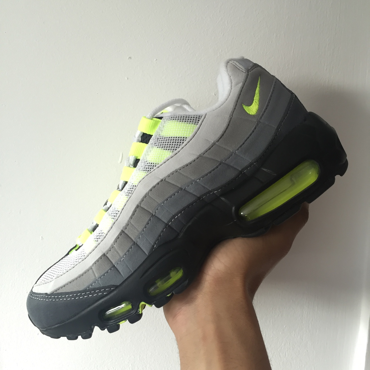 the latest 170a8 eb456 Nike Air Max 95 OG Volt / Grey. Brand new with box... - Depop