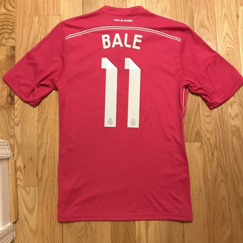 c4e36b030 Gareth Bale 2014-15 Real Madrid Away Jersey. Hot pink. Size - Depop
