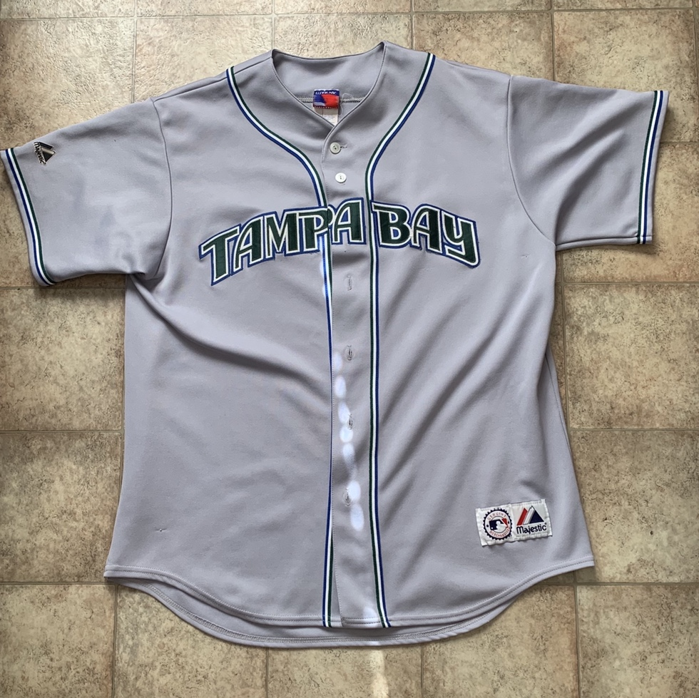 the latest 4c0a6 512bc Vintage Tampa Bay Devil Rays baseball jersey! In the... - Depop