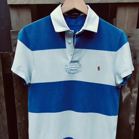 d2a5c42bd @jessekayode. 3 months ago. London, United Kingdom. Ralph Lauren Royal Blue  and White Women's Rugby Polo Shirt- ...