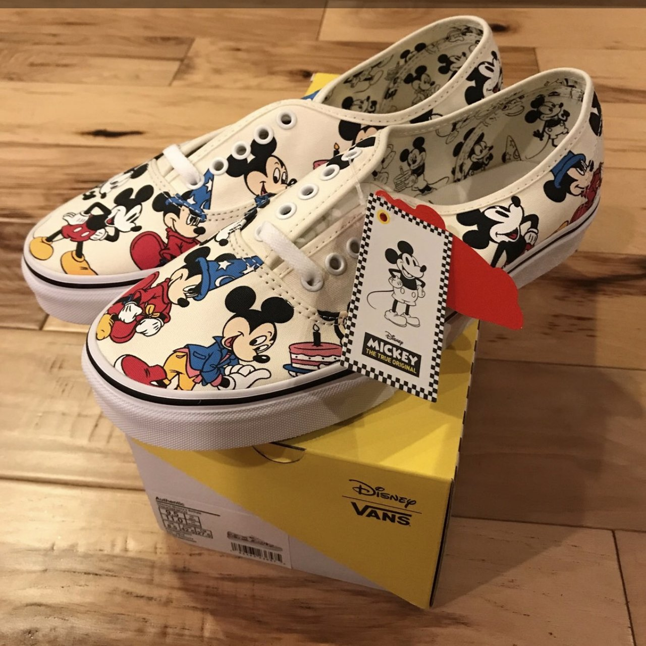 Vans Authentic Disney Mickey s Birthday. Dead stock (Brand - Depop 771084c87f32