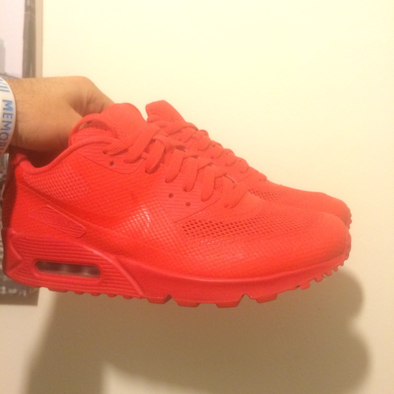 Nike air Max 90 ID Red october, us 8 41 Buone Depop