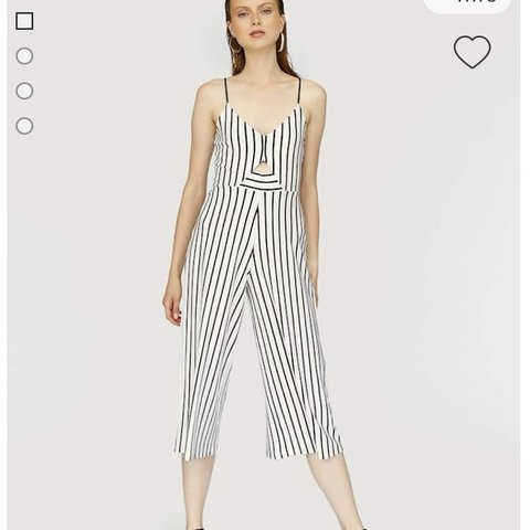 937059399c3 Striped strappy culotte jumpsuit