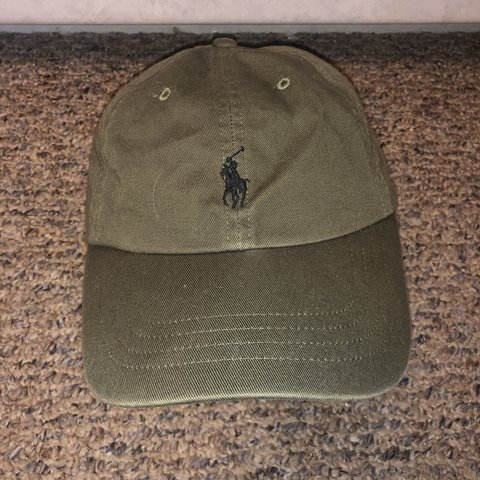 173b2a593 ON HOLD DO NOT BUY Slightly used Olive green Polo Ralph hat - Depop