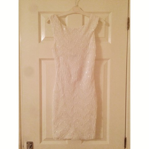13b9617777ed White sequin bodycon dress from Jane Norman. Worn once for 8 - Depop