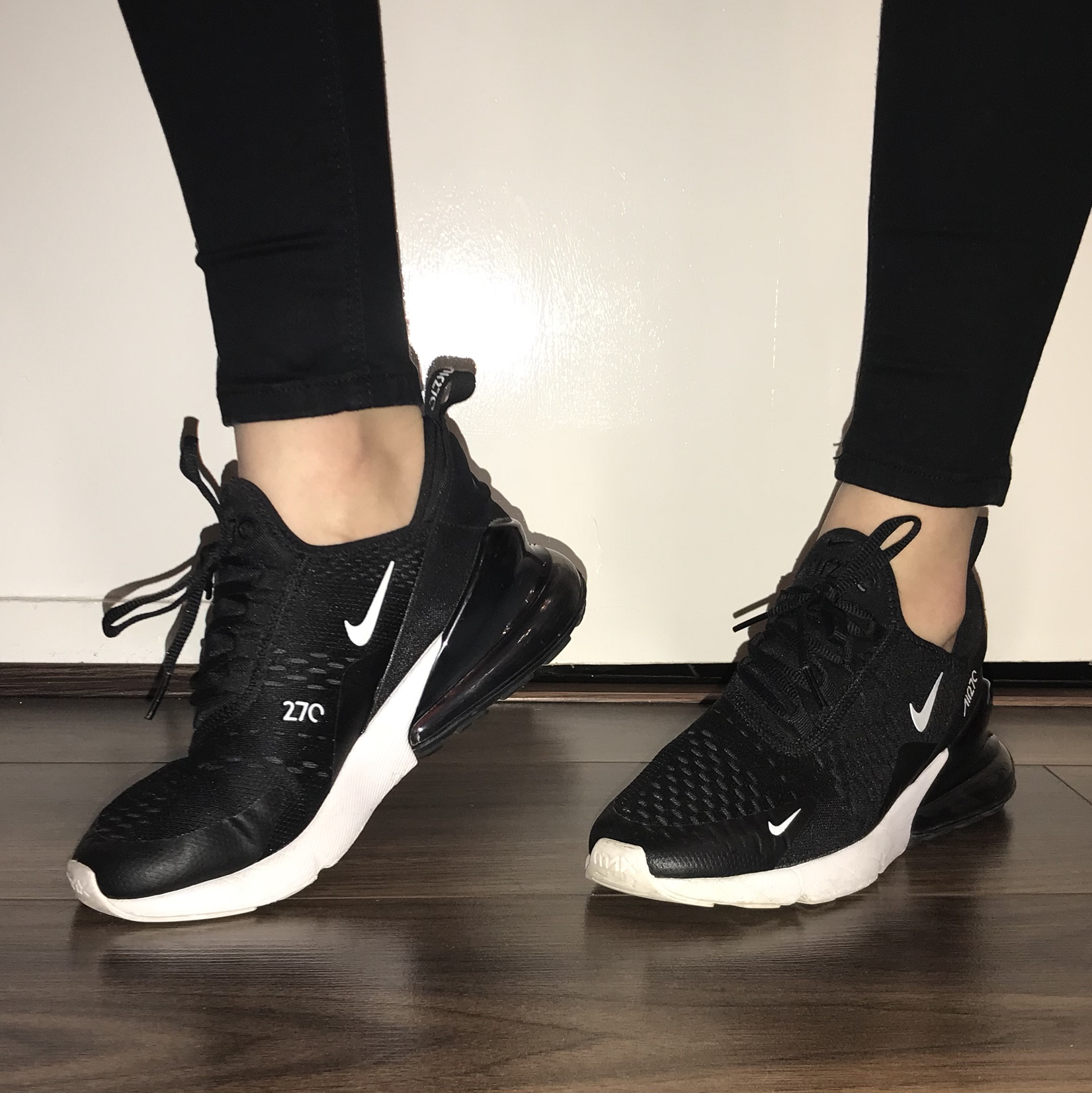 big sale 3d422 9024a Nike Air Max 270 Junior Black and White. Size UK 5.... - Depop