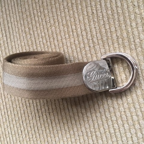 08e3508bfd7 Vintage Gucci Belt Authentic Used but good condition no to - Depop