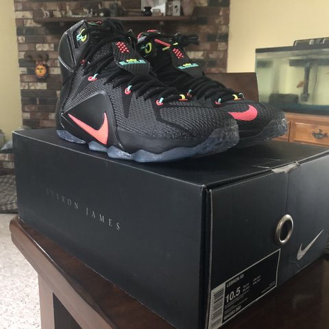15d4b31ded4d2 Lebron XII (12) Data Colorway Size  10.5 Never tried on. - Depop