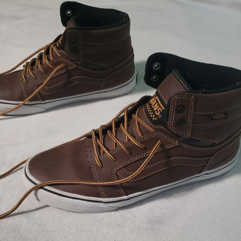 a521710ed5f6bf Rare Vans Sk8 - Hi MTE leather shoes w  vintage boot as not - Depop