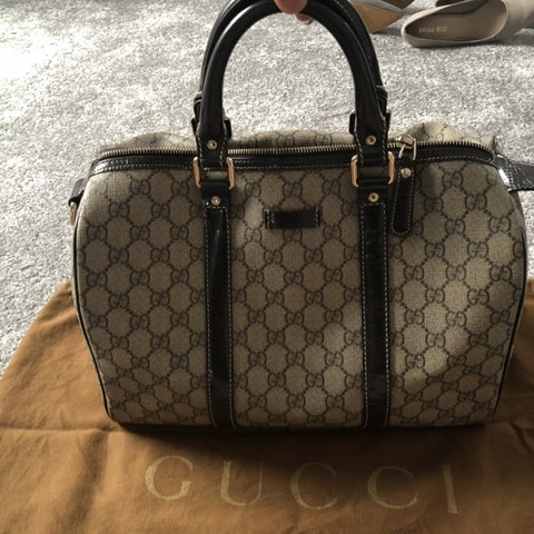 5cb8ffae3538f3 @sukhichall8. 3 months ago. Birmingham, United Kingdom. Gucci Joy Boston  bag GG coated canvas medium ...