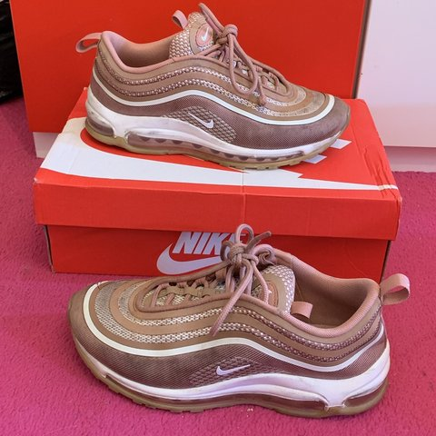 82925f6bd1d6 Rose Gold Nike Air Max 97s Size 5 In good condition. to - Depop