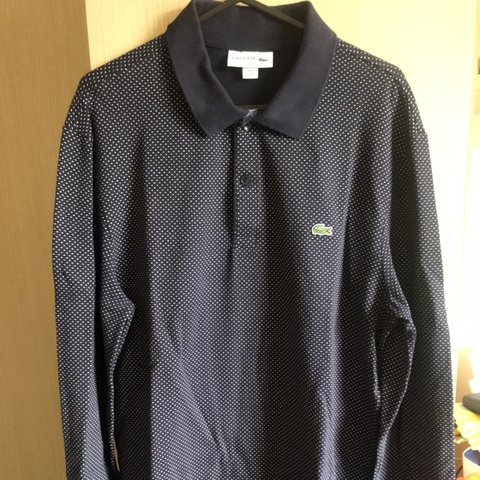 77b86b119 Lacoste long sleeve polo Slim fit size M L US Only worn a - Depop