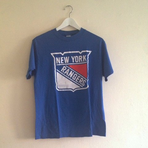 a2ac0bd3 @thesecondbushome. 4 years ago. London, UK. vintage blue new york rangers t- shirt. in good condition. ...