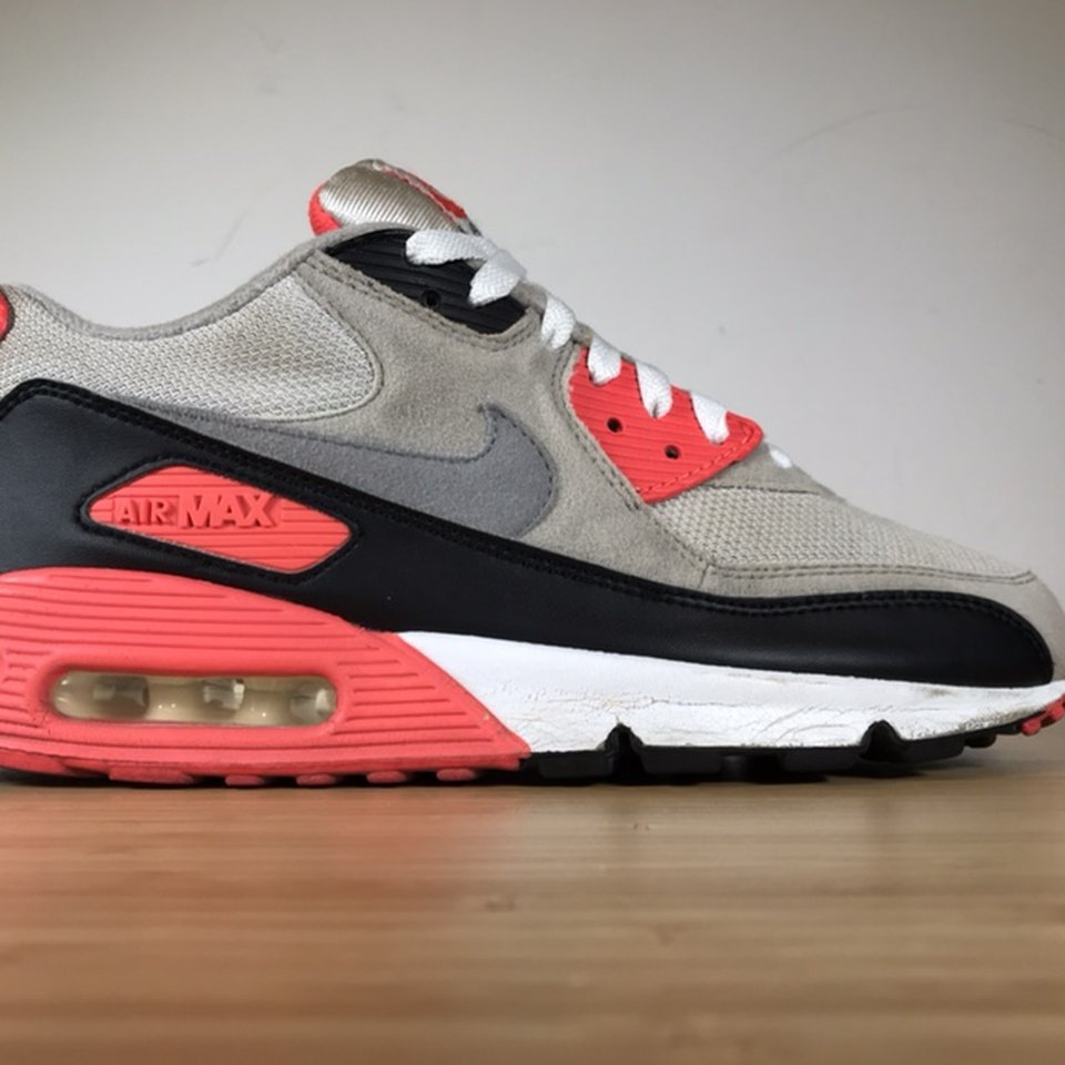 Nike Air Max 90 Infrared Black Grey White Cement Depop
