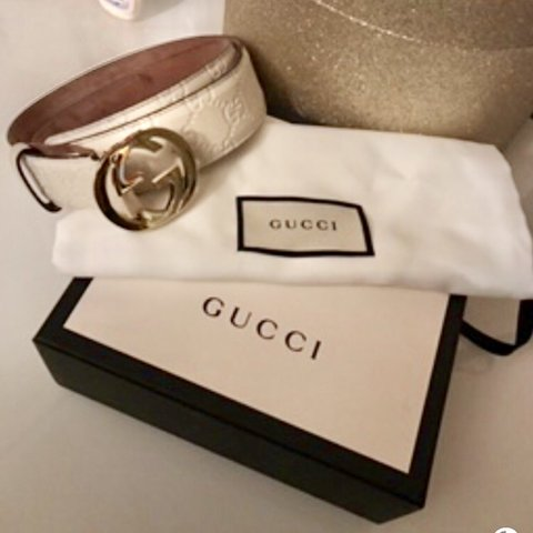 c508f5a4c34 Authentic Gucci white belt