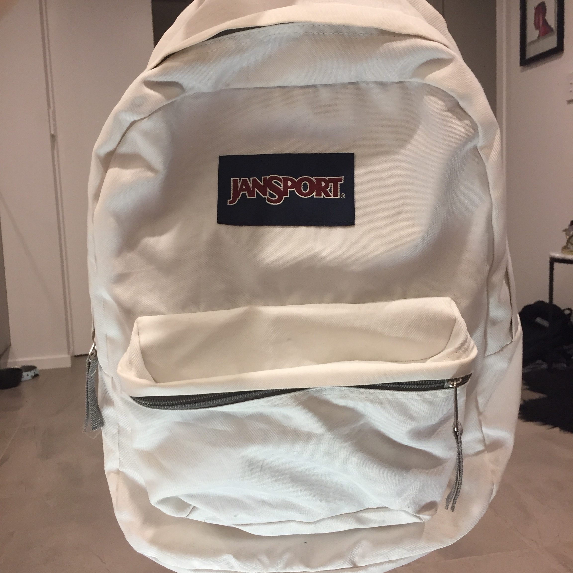 purchase cheap presenting cheapest White Jansport backpack, great condition :) Tags :... - Depop