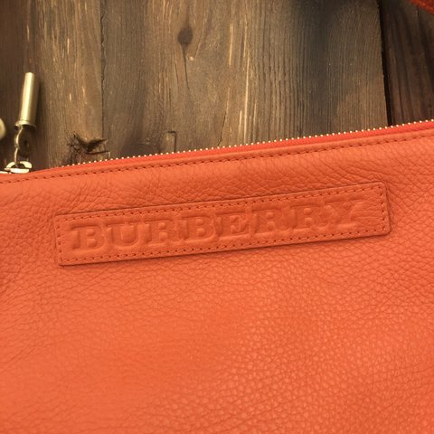 486186535579 small orange vintage Burberry bag. From years ago so don t - Depop