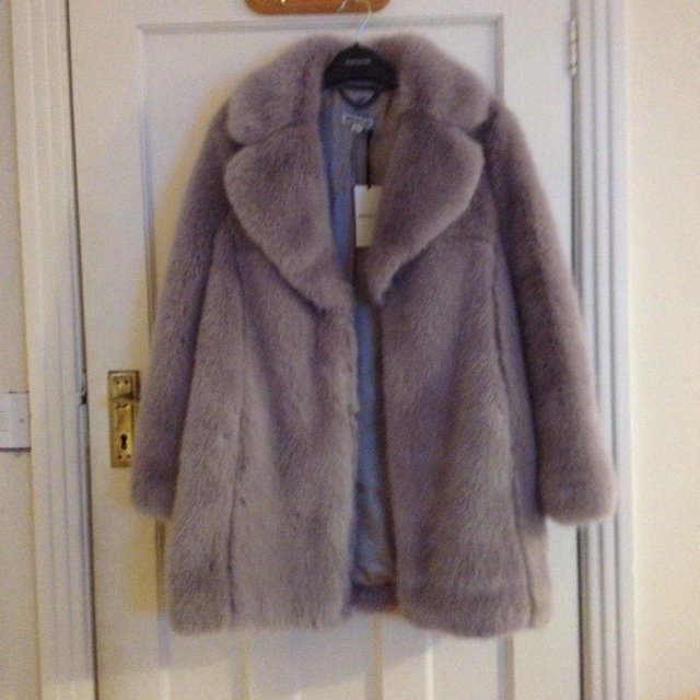 d18439a3932 Whistles Kumiko faux fur coat in Lilac XS 6-8. Brand new out - Depop