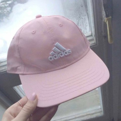 Baby Pink Adidas cap sooo cute and size can be changed in a - Depop cb829c5e3e6