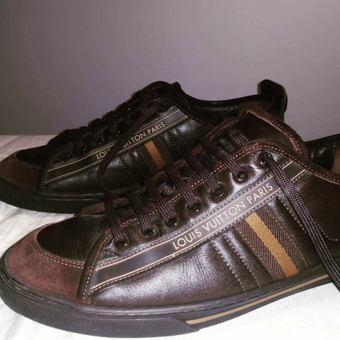 1db0797e1f61 Vintage Louis Vuitton Brown Cosmos Men Shoes Size  (says 10 - Depop