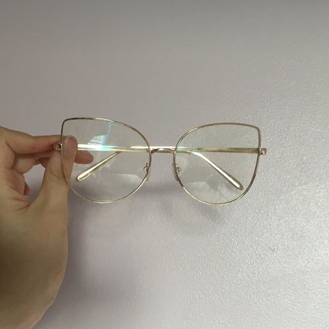 0a5151852c8 Adorable Gold-Frame Clear (non-prescription) Glasses