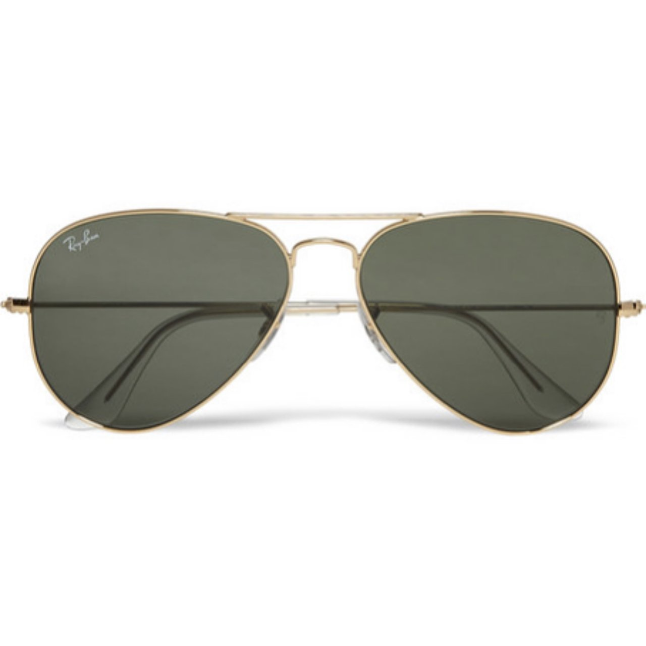 b537b05edd RAY-BAN Classic Unisex Aviator Sunglasses. Gold rim and army - Depop