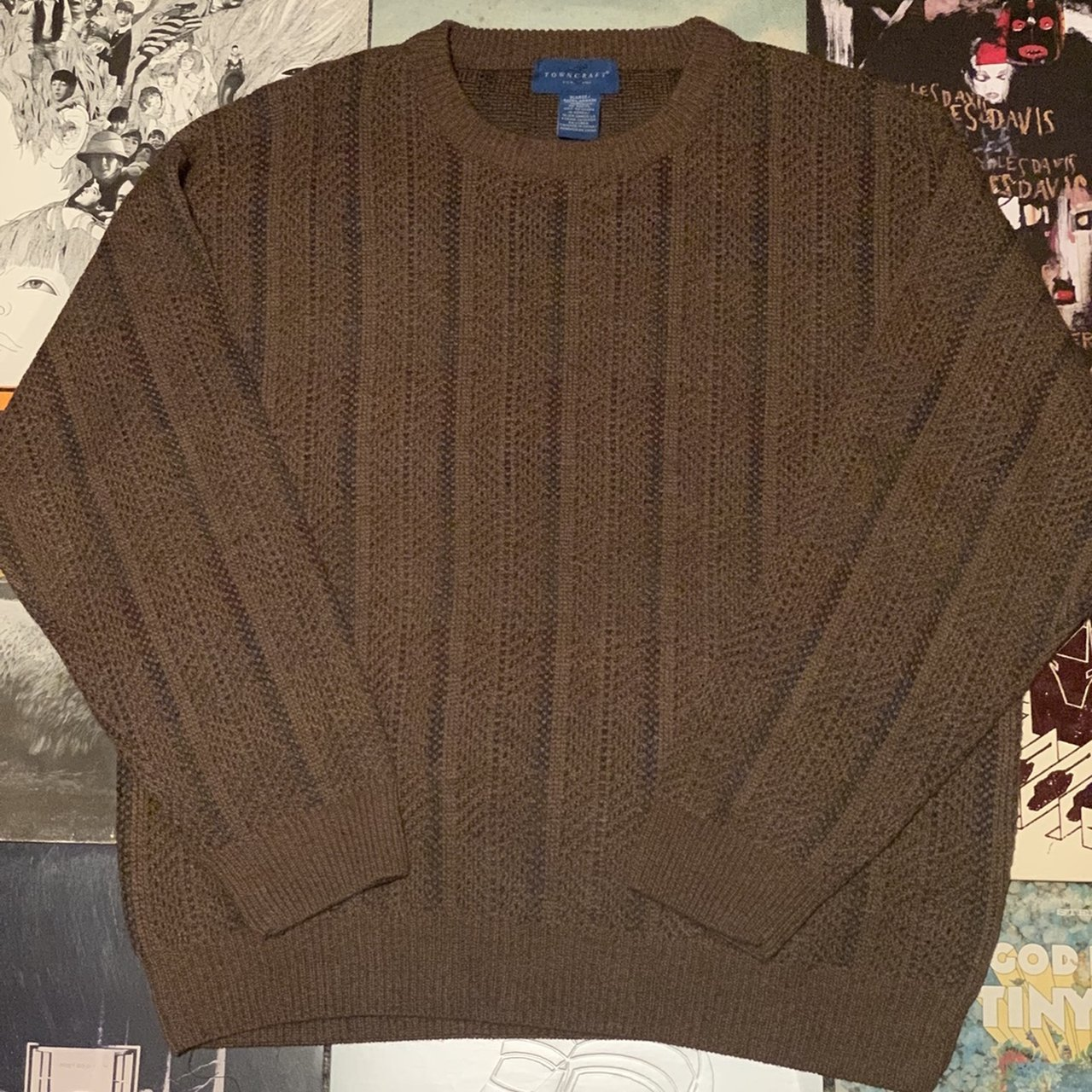 46ee0671ce3fad Brown vintage Towncraft sweater. Probably