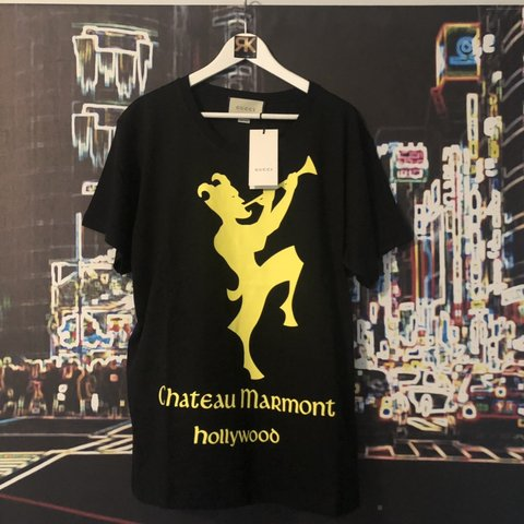 5775aa87 Gucci Black & Yellow Chateau Marmont T-Shirt Brand new with - Depop