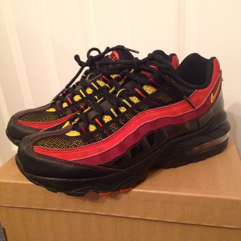96cb92e1337f coupon nike air max 95 size 5.5 black orange yellow burgundy depop 15129  ae50c