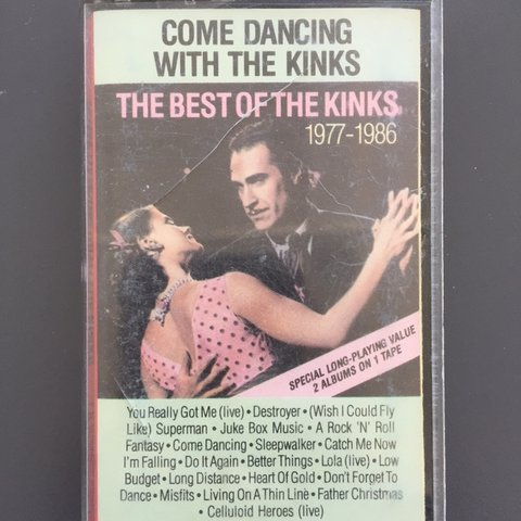 fab73923b The Kinks Come Dancing With Cassette Tape Greatest Hits - Is - Depop