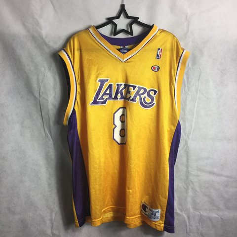 8294bb9c0e3 Rare vintage Kobe Bryant 48 champion lakers jersey in size 1 - Depop