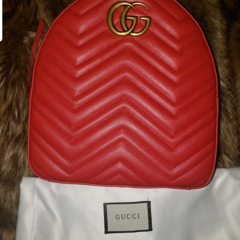 677fc30a725 GG Marmont quilted leather backpack Comes with dust bag